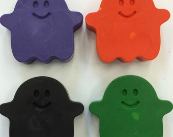 10 Sets of 4 Happy Halloween Ghost Crayons  Birthday Party Favors
