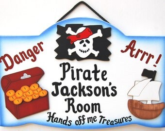 Personalized Pirate -Kids Room Sign