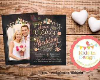 Personalised Photo Invitation, Save-the-Date, Wedding Invitation, Casual, Custom print, Modern Invitation
