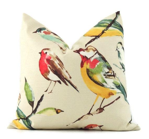 Bird Pillow 22x22 Pillow Cover Decorative Accent by ThePillowToss