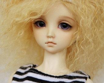 Wool Wig for 1/3, 1/4, 1/6  BJD dollfie custom wig-Gold DV2-012