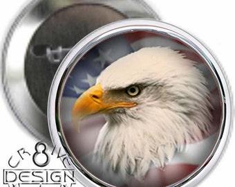 American Eagle  3.5 inch  button