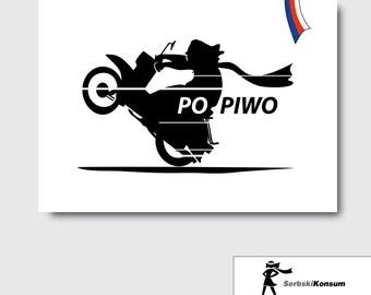 Stickers | Post cards stickers | PO PIWO | SERBSKIKONSUM