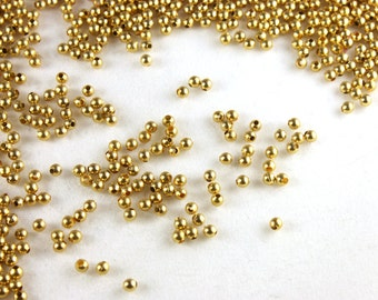 100x Gold Tone Beads - B042