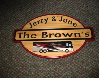 Personalized RV Camping Sign