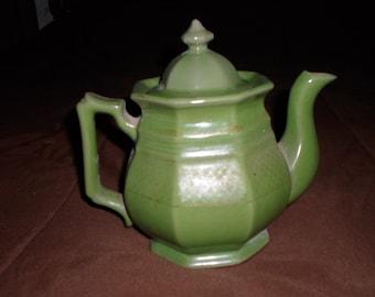 Vintage Green Teapot