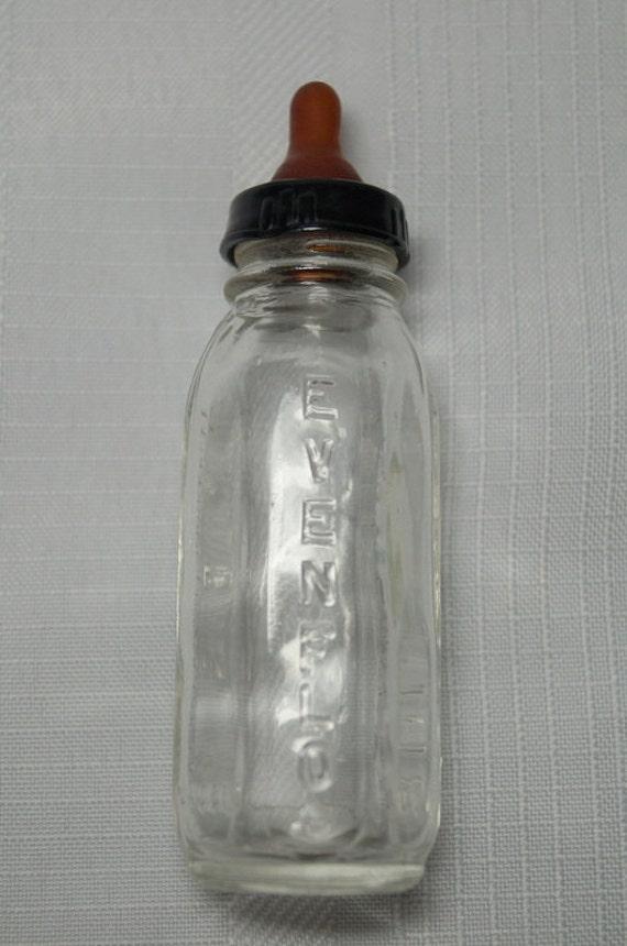 Vintage evenflo glass baby doll bottle for Retro glass bottles