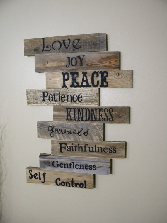 Wood Sign Pallet Sign Pallet Art Fruits of the Spirit