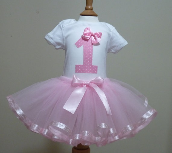 1st First Birthday Girl Princess Tutu Outfit Vest And Tutu