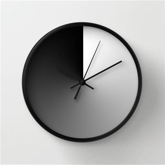 Midday Sign Wall Clock Modern Wall Clock Gradient Wall