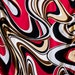 Red Pucci, Pucci scarf, black white and red scarf, long silk scarf, Emilio Pucci, 60's 70's, Pucci vintage scarf. head scarf.