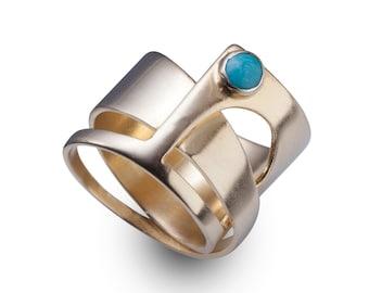 Turquoise Ring - Turquoise Ring 14k Gold - Turquoise