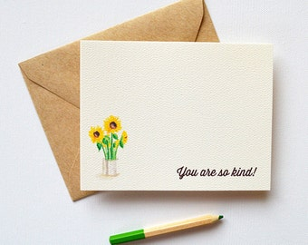 Thank You Notes | Vintage Sunflowers Thank You Note Cards