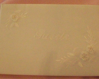 Wedding Guest Book with Personalized Engraved Metal Plate