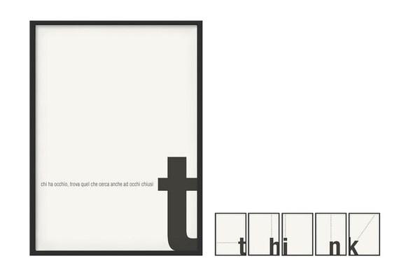 Poster grafico stampato lettering e frasi for Ikea cornici 50x70