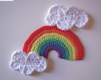 Rainbow applique - 7 colors - with optional clouds