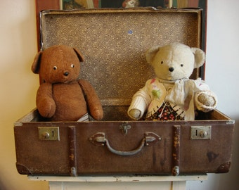 Antique Teddy Bear / Brown Bear Plush Russian Teddy rare collectible Soviet vintage 50s