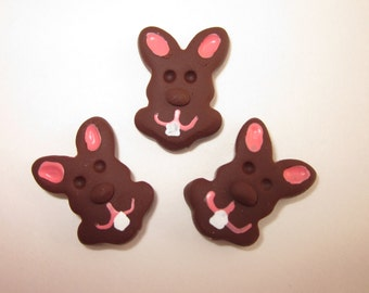 3 Miniature chocolate bunnies