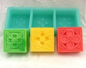 Soap Mold 3 cavity Square Flexible Silicone Mould For Handmade Soap Candle Candy Cake Fimo Resin Crafts R0177