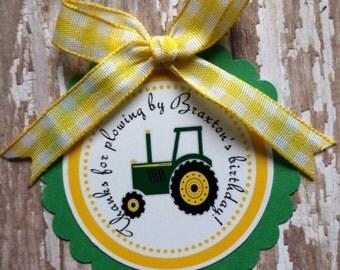John Deere Birthday Favor Tags john deere party  john deere birthday gift tags farm birthday tractor birthday I am 1 boy birthday