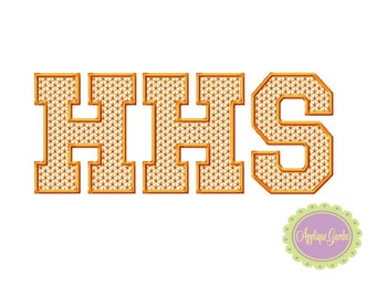 HHS Motif Stitch Embroidery Design