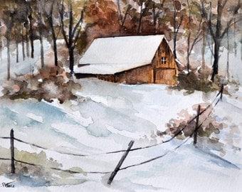 Popular Items For Winter Farm On Etsy
