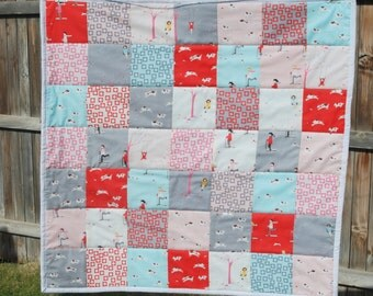 SALE!  Sherbet Pips Baby Quilt
