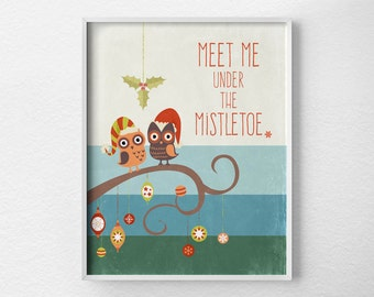 Christmas Decor, Retro Christmas Print, Holiday Decor, Christmas Wall Art, Holiday Print, Retro Holiday Poster, Holiday Art Print, 0150