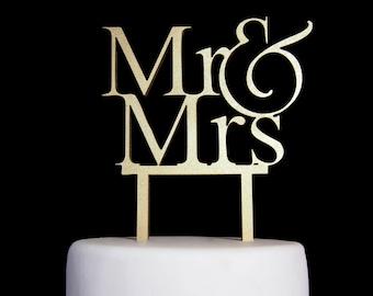 Mr & Mrs Custom Wedding Cake Topper