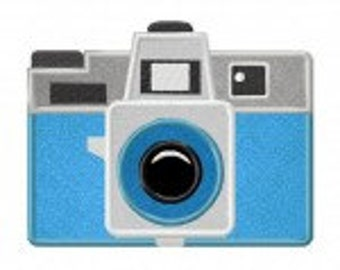 Holga Camera Includes Both Applique and Stitched