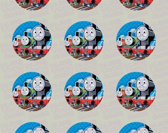 Thomas the Train, Percy & James Edible Icing Cupcake Decor Toppers - TT5