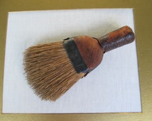 Antique Whisk Brush Broom Handmade Primitive Natural Bristle/ Leather Deccr Display Collectible