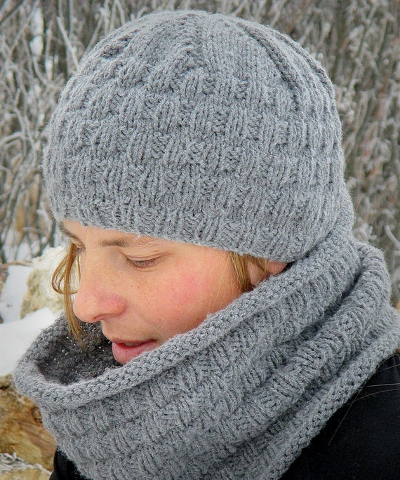 KNITTING PATTERN PDF Hat and Cowl Reversible hat and cowl