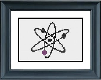 Atom - the Big Bang Theory - PDF Cross-Stitch Pattern
