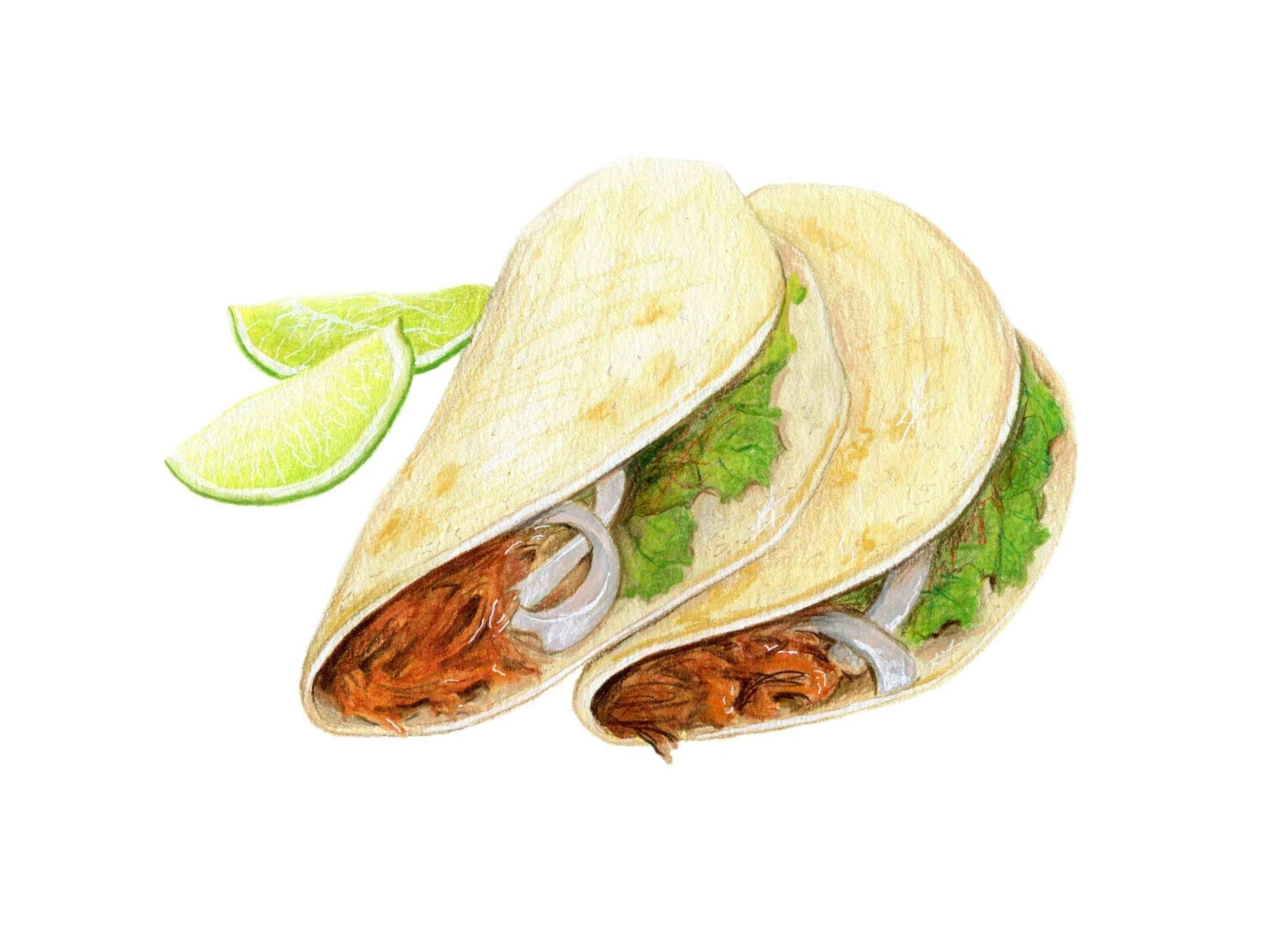 Taco Art // Food Illustration // Archival Print by ...