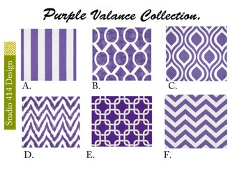 Purple Valance. Purple  Valence.Purple Window Treatment. Purple Drapery . Purple Valance window curtain.