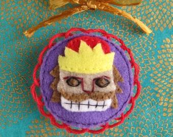 Nutcracker Purple Christmas Fairytale Felt Brooch