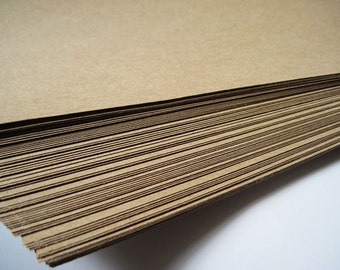 50pcs - 150gram A4 Size Kraft Paper *KP150*