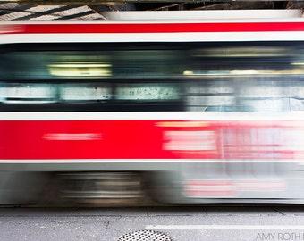 Travel Photography Streetcar Photograph Home Decor Streetcar Wall Art Motion Blur