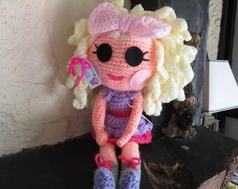 crochet lalaloopsy style doll
