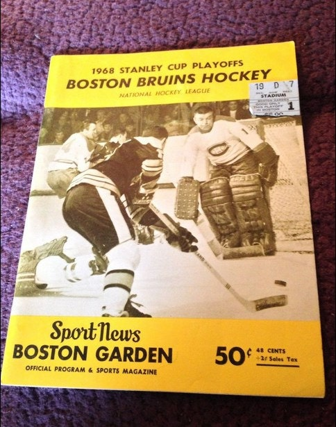 1968 Stanley Cup Playoff Boston Bruins Vs By 12treasures12