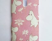 Pink Moomin iPhone  iPhone 4/4s/5/5s/6/6 plus, Samsung Galaxy S4/S5/S6/Note 4, Nokia Lumia 520/920/925/928/1020, HTC One M7/M8/M9 /X/S Shell