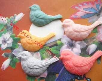 Wholesale 100pcs 48x20mm assorted(5 colors available)  resin Dove birds Cabs
