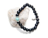 Black Power & Sophistication Wood Bead Bracelet - Lifetherapy