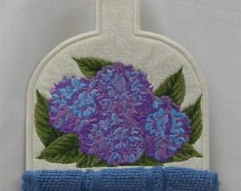 Hydrangea Towel Topper