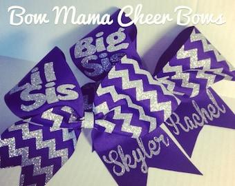 Big Sis Lil Sis Cheer Bow Set