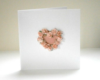 Roses Heart Valentine or Wedding card