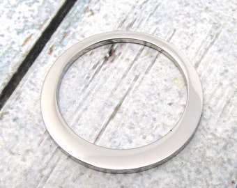 Offset Washer - Stainless Steel Washer - Stainless Steel Jewelry Pendant 32mm, Stamping Blank Large Washer Pendant Stampable (090)