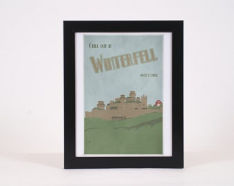 Vintage Winterfell Game of Thrones -inspired print