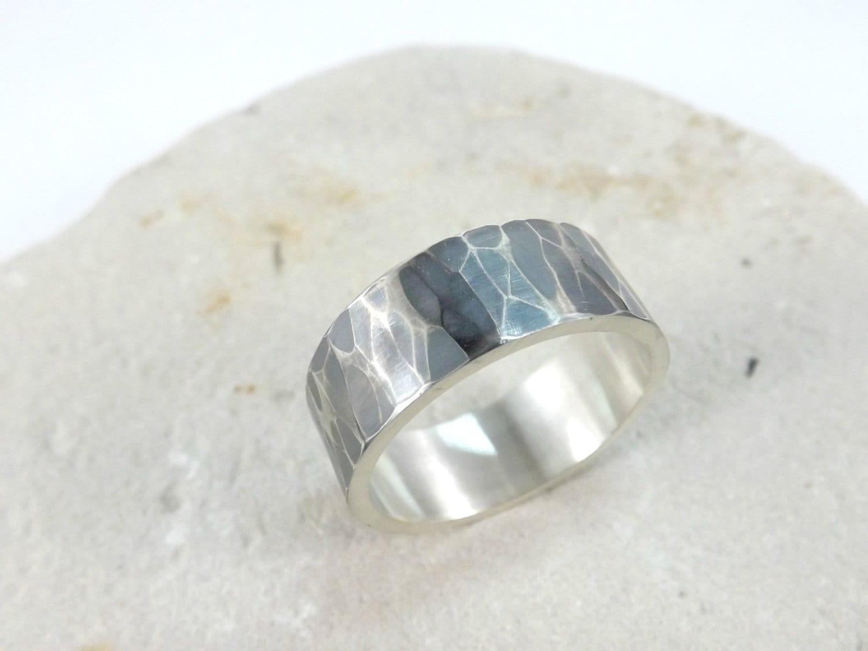 Mens Ring Silver Wedding Band Wedding Ring Men By CrazyAssJD